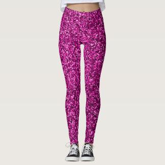 Hot pink  Sequin bling Leggings