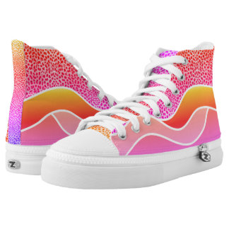 Hot Pink Shades in Waves with Cheetah Print High Tops
