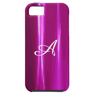 Hot Pink simple Design Monogram iPhone 5 Cover