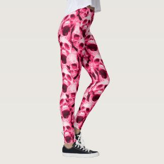 Hot Pink Skulls Leggings