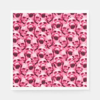 Hot Pink Skulls Paper Serviettes