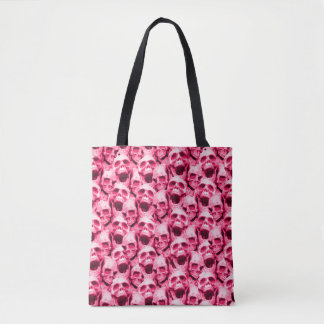Hot Pink Skulls Tote Bag