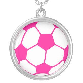 Hot Pink Soccer Ball Pendant
