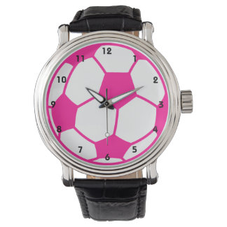 Hot Pink Soccer Ball Watch