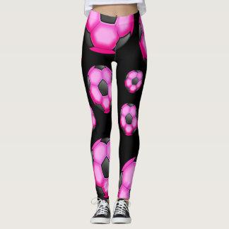 Hot Pink Soccer Balls Leggings