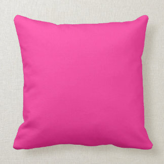 Hot Pink Solid Color Background Cushion