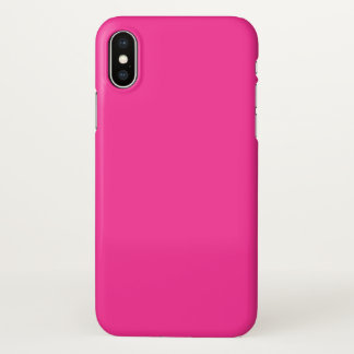 Hot Pink Solid Color Background iPhone X Case