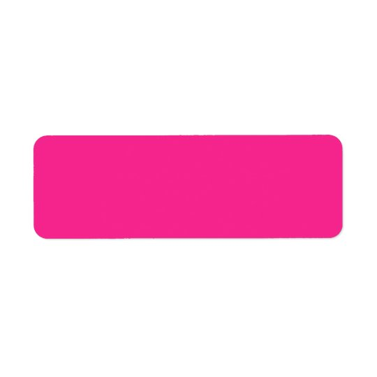 Hot pink solid colour custom blank labels