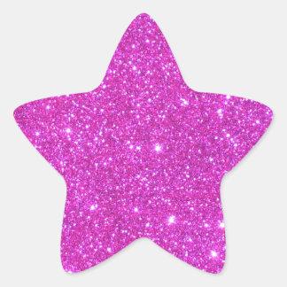 Hot Pink Sparkle Glittery CricketDiane Art Star Sticker