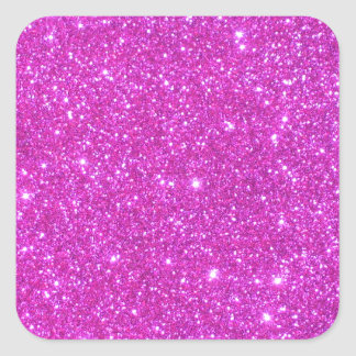 Hot Pink Sparkle Glittery CricketDiane Art Square Stickers