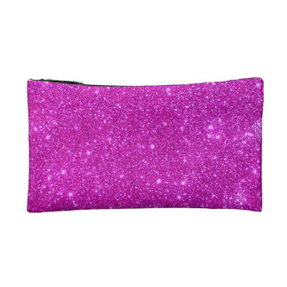 Hot Pink Sparkle Glittery Fun Small Cosmetic Case Cosmetic Bag