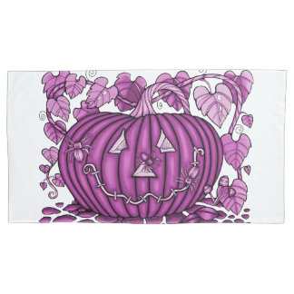 Hot Pink Spidery Pumpkin Pillowcase