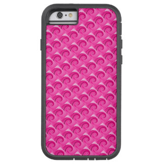 Hot Pink Spiral Staircase Pattern II Tough Xtreme iPhone 6 Case