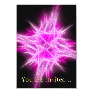 Hot Pink Star 1 13 Cm X 18 Cm Invitation Card