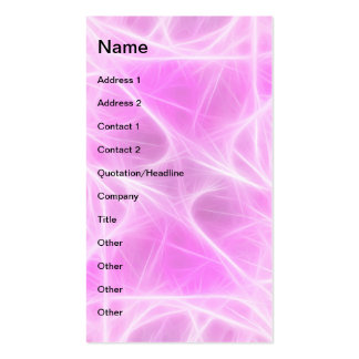 Hot Pink Star 1 Double-Sided Standard Business Cards (Pack Of 100)