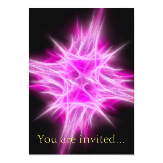 Hot Pink Star 1 Personalized Invites