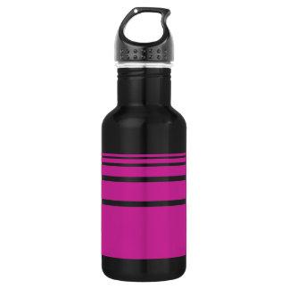Hot Pink Stripes 532 Ml Water Bottle