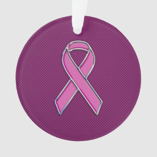 Hot Pink Style Ribbon Awareness Carbon Fiber