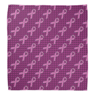 Hot Pink Style Ribbon Awareness Carbon Fiber Bandana