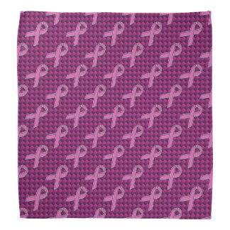 Hot Pink Style Ribbon Awareness Carbon Fiber Kerchief