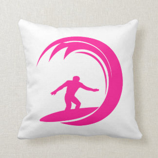 Hot Pink Surfing Cushion