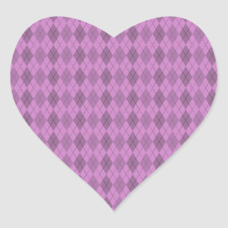 Hot pink,tartan,modern,pattern,girly,argyle,trendy heart sticker
