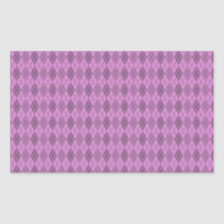 Hot pink,tartan,modern,pattern,girly,argyle,trendy rectangular sticker