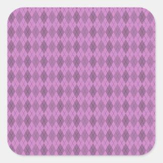 Hot pink,tartan,modern,pattern,girly,argyle,trendy square sticker