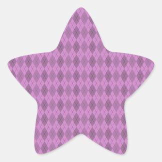 Hot pink,tartan,modern,pattern,girly,argyle,trendy star sticker
