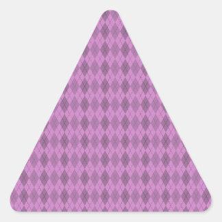 Hot pink,tartan,modern,pattern,girly,argyle,trendy triangle sticker