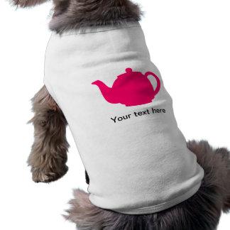 Hot Pink Teapot Sleeveless Dog Shirt