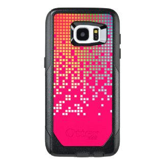 Hot pink techno raining pixels groovy
