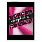Hot Pink Teen Birthday Card