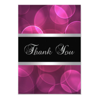 Hot Pink Thank You Cards 9 Cm X 13 Cm Invitation Card