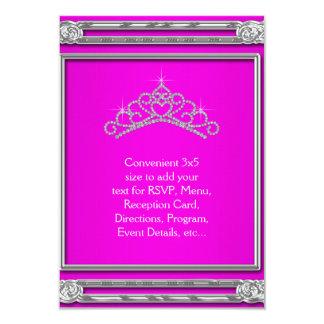 Hot Pink Tiara RSVP All Purpose Card