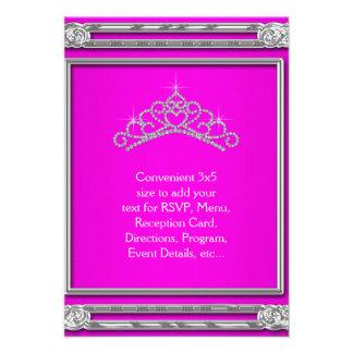 Hot Pink Tiara RSVP All Purpose Custom Invite