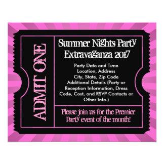 Hot Pink Ticket Flyers, Custom Printing