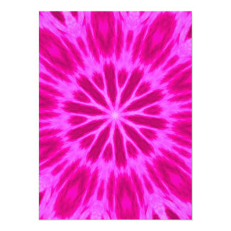 Hot Pink Tie-Dyed Kaleidoscope Announcements