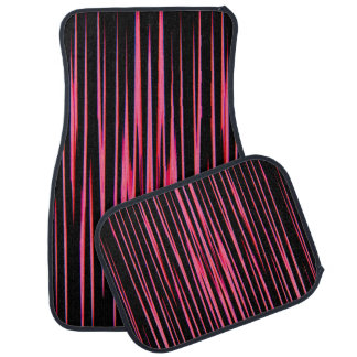 HOT PINK TILE (an abstract art design) ~ Car Mat