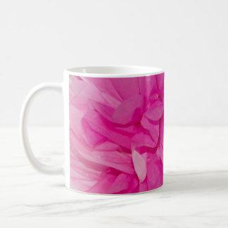 Hot Pink Tissue Paper Flower Closeup Photo Mugs