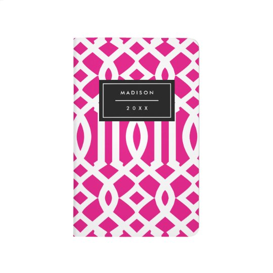 Hot Pink Trellis | Pocket Journal