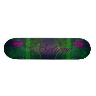 Hot Pink Tulip Faery Meeting Hall Abstract Art Skate Board
