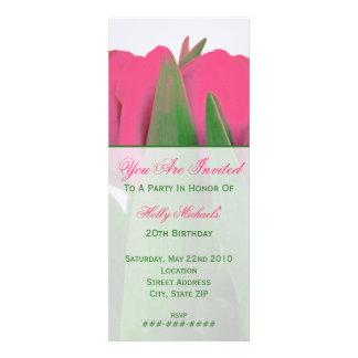 Hot Pink Tulips Invitation