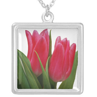 Hot Pink Tulips Necklace