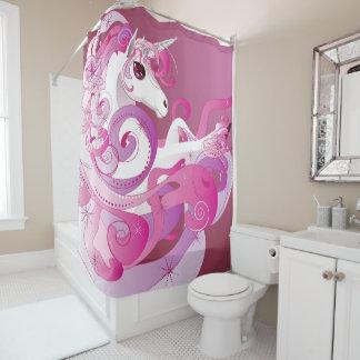 Hot Pink Unicorn Shower Curtain