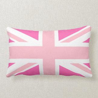 Hot Pink Union Jack Lumbar Cushion