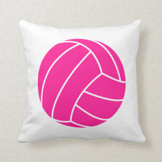 Hot Pink Volleyball Cushion