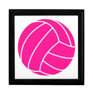 Hot Pink Volleyball Keepsake Boxes