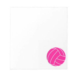 Hot Pink Volleyball Notepad