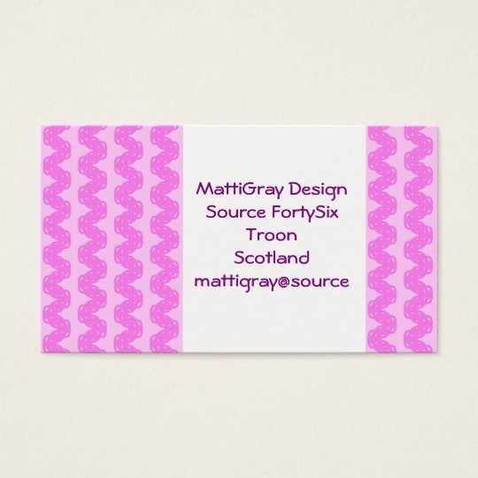 Hot Pink Wave Business Card